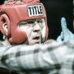Nick Lagemann of Sidley Austin competing in last year's Haymakers for Hope boxing match at the Best Buy Center, NYC