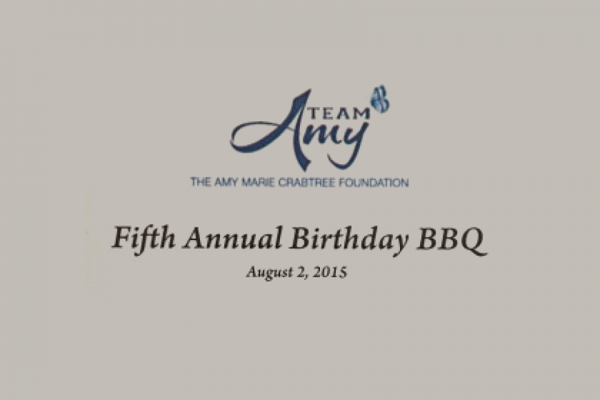 TINA'S WISH AWARDED GRANT BY THE AMY MARIE CRABTREE FOUNDATION