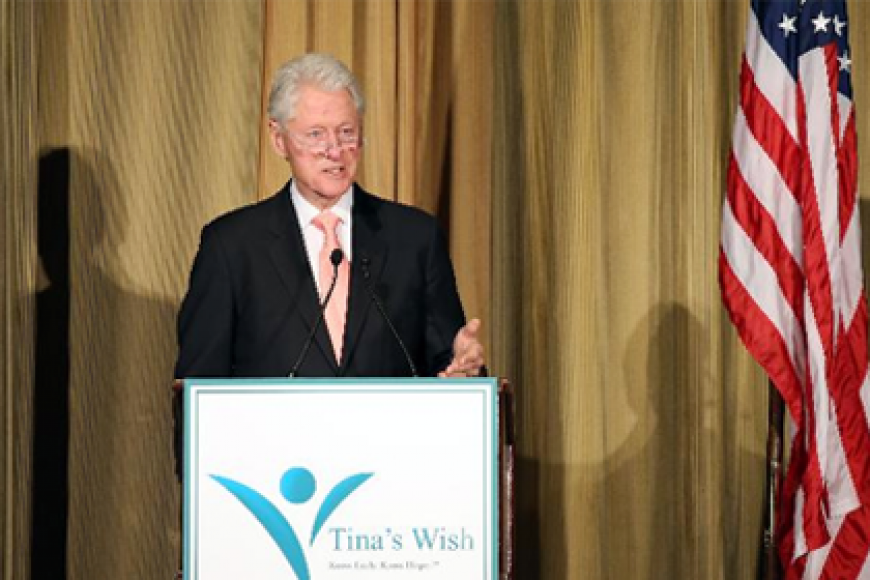 BILL CLINTON SPEAKS ABOUT SCIENCE AND CANCER RESEARCH AT CHARITY EVENT