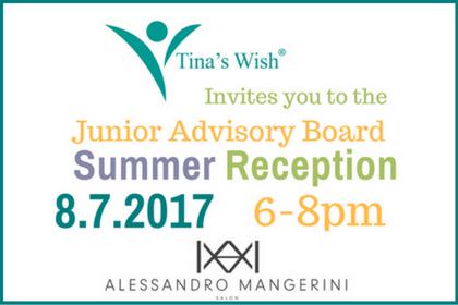 JUNIOR ADVISORY BOARD SUMMER RECEPTION: MONDAY, AUGUST 7, 2017