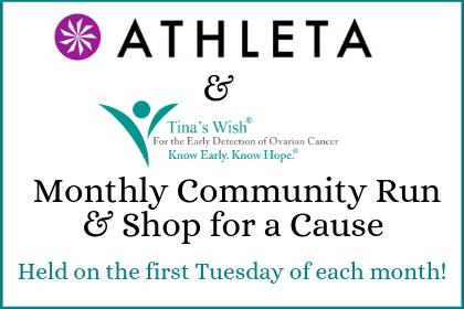 Athleta & Tina's Wish Community Runs + Shop for a Cause Events