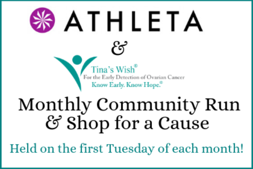 Athleta & Tina's Wish Community Runs + Shop for a Cause Events