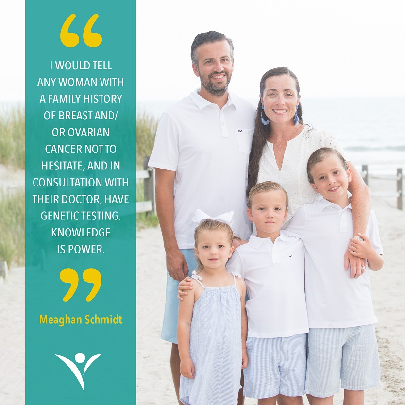 Meaghan Schmidt shares her belief that knowledge is power as she tells her family's journey with ovarian & breast cancer & the BRCA mutation.