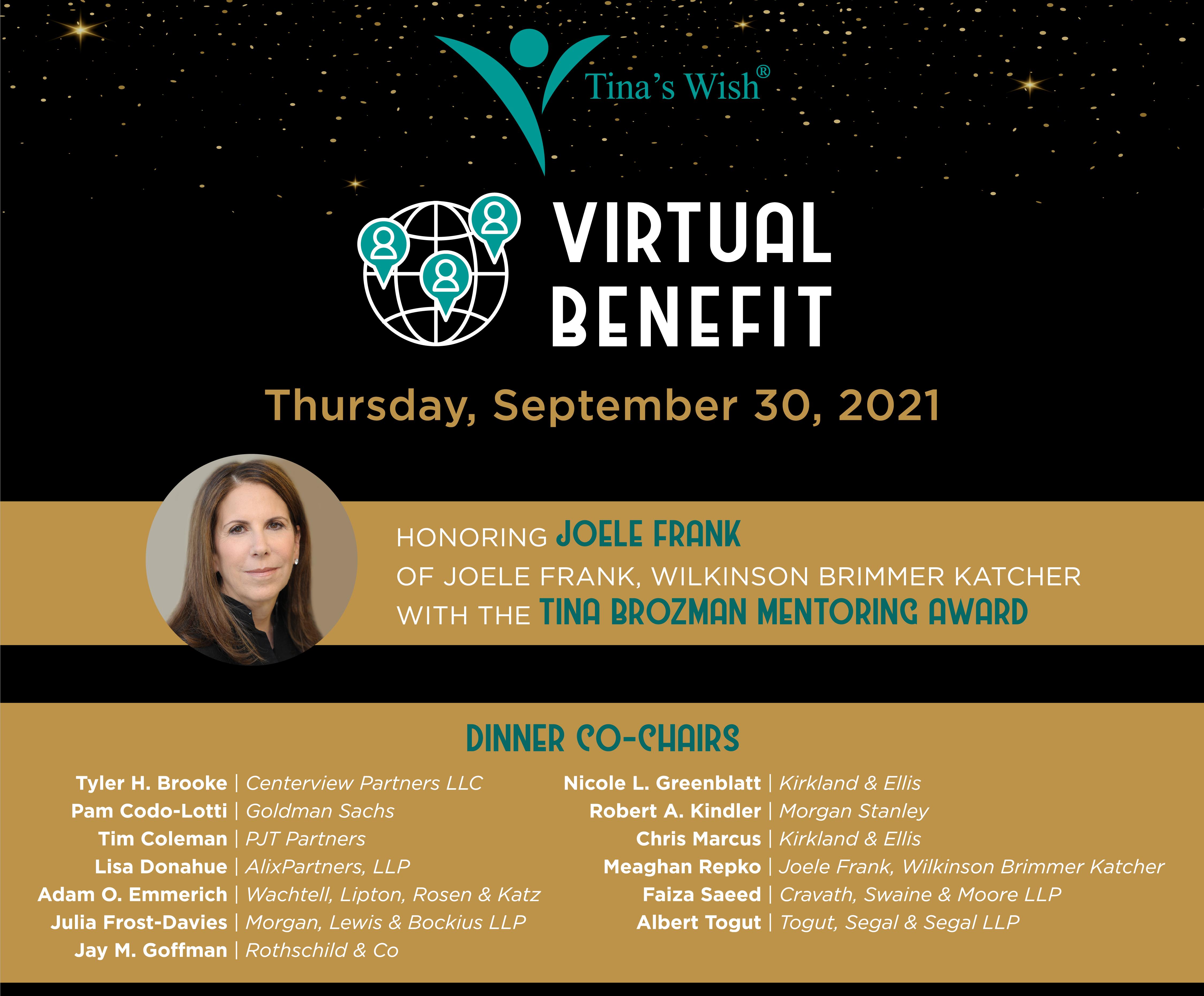 2021 ANNUAL BENEFIT – THURSDAY, SEPTEMBER 30